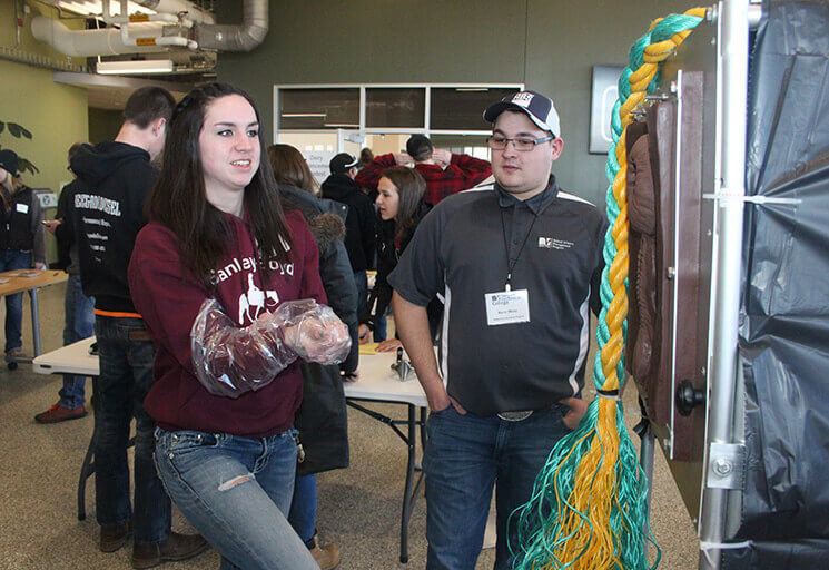 Photo of High School Students Join CVTC Ag Skills Event