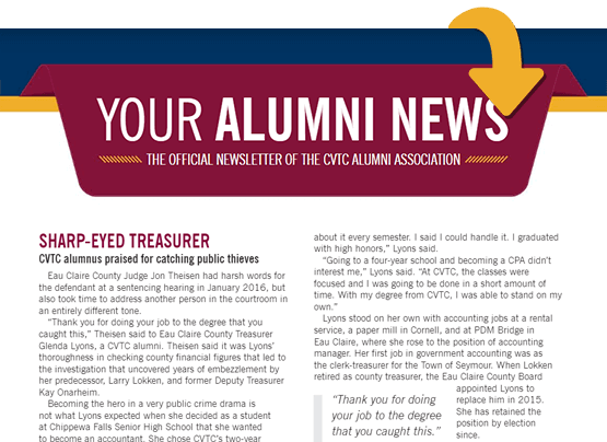 Read the latest alumni newsletter