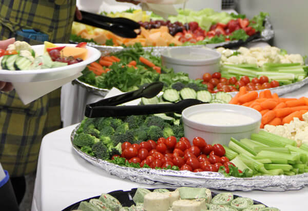 Food platter at catering event